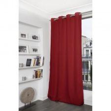 Rideau thermique occultant rouge 140×260