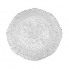 Assiette plate en verre pressé 27 cm – Lot de 6