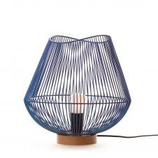 Lampe en métal bleu