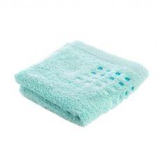 Drap de bain uni en 100% coton vert 100×150