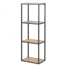 Bibliothèque loft 108 cm châssis en métal chêne