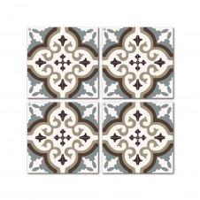 Dessous de verre en mdf noir blanc bleu 10×10