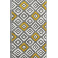 TAVLA – Tapis géométrique jaune 80x150cm