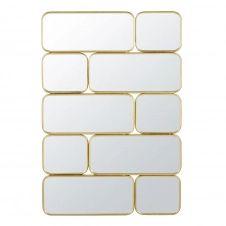 Miroirs en métal doré 123×84
