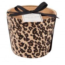 Bougie parfumée en verre et effet peau de léopard