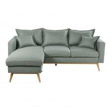 Canapé d'angle modulable style scandinave 4/5 places vert d'eau Duke