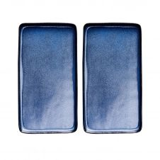 Plat Raw 18×34 cm Lot de 2 Midnight blue