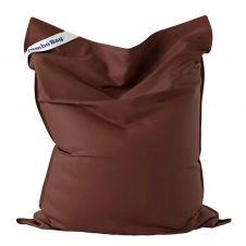 Coussin géant d'extérieur en tissu chocolat