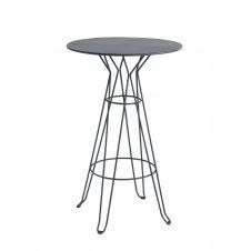CAPRI – Table rond haute en acier gris D80