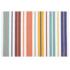 Set de table motifs à rayures multicolores