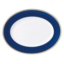 Plat à service Hibiscus 35 cm Blue