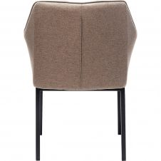 Chaise avec accoudoirs Thinktank marron clair Kare Design