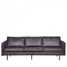 Grand canapé 4 places vintage noir
