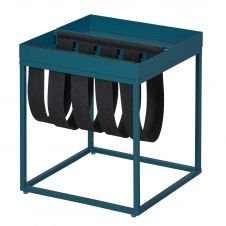 Table d'Appoint Turquoise avec Porte-Brochure