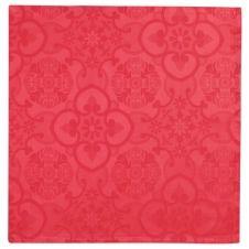 Serviette de table en 100% coton rouge 47×47