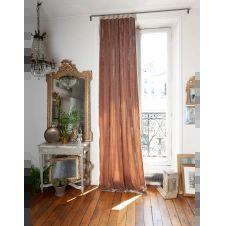 Rideau en velours de soie doublé 110×300 cm taupe
