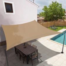 Voile d'ombrage rectangulaire 3×4 M sable