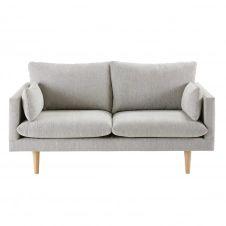 Canapé 2 places gris clair Collins