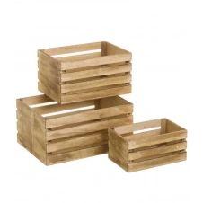 Set de 3 caisses en bois
