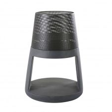 Brasero en fibre d'argile et métal noirs