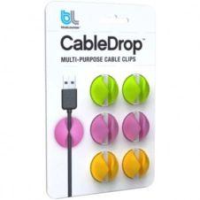 Range câble Bluelounge CableDrop couleurs vives Pack de 6