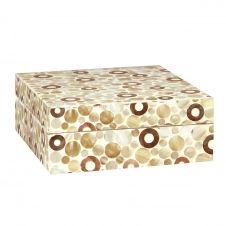 Boîte à couvercle en bois et nacre laquée grand modèle