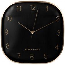 Horloge en métal noir et doré 29×29