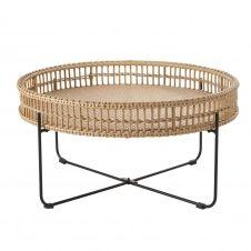 Table basse de jardin ronde en résine imitation rotin Tanglao