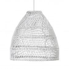 Lampe à suspension Maja Ø45,5 cm Blanc
