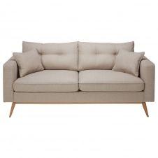 Canapé style scandinave 3 places beige chiné Brooke