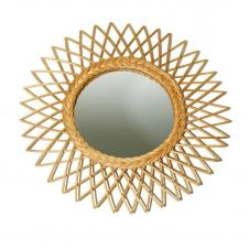 Miroir rotin bohème D60