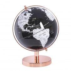 Globe noir et blanc 28 cm