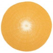 Set de table rond en papier jaune