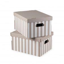 Boîte de rangement 40x31cm – Lot de 2