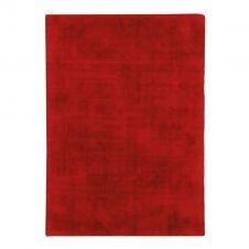 Tapis aspect velours rouge 120×170