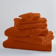 Drap de bain uni et coloré coton papaye 150×100