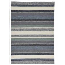 Tapis d'extérieur et intérieur très durable bleu 70×140