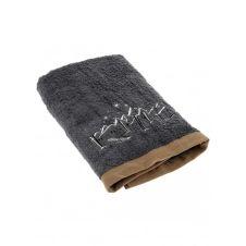 Drap de bain en coton gris 140×70