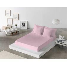 Drap de lit en coton rose 250×280