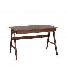 Bureau en bois foncé 120 x 70 cm avec 2 tiroirs