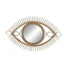 Miroir en rotin naturel 45×71