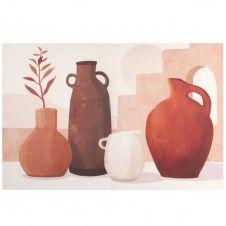 Toile imprimé vases multicolores 90×60