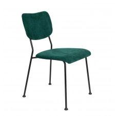 Chaise de salle à manger velours vert