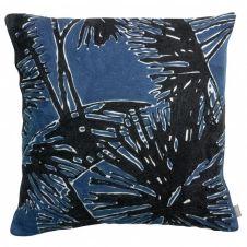 Coussin garni en 100% coton bleu 45×45