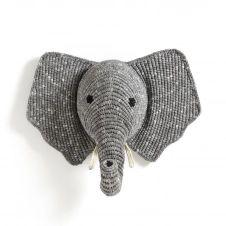 Trophée mural éléphant, Lapilli