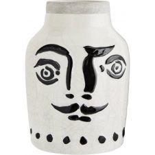 Vase visage en céramique blanche H28cm