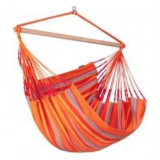 Chaise-hamac kingsize en tissu orange