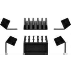 Range câble Goobay Cable Guide (5) Noir x2