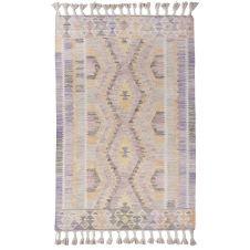 Tapis kelim Berber en laine fait à la main violet 140×200