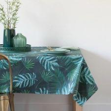Nappe enduite imprimé jungle 140×250